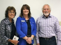 Ed & Shirley Yeager pictured with Cindy Faldon (center), Executive Director of the Van Buren Boys & Girls Club. In 2012, Yeagers donated $100,000 toward the new 5,000 sq ft wing of the Boys & Girls Club.