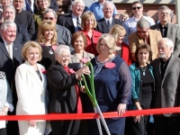 2011 Ribbon Cutting Ceremony of the new Van Buren Public Library with land donated by the Yeager family