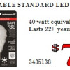 Dimmable Standard LED Bulb