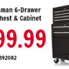 Craftsman 6-Drawer Tool Chest & Cabinet