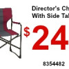 Director's Chair With Side Table
