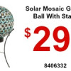 Solar Mosaic Gazing Ball With Stand