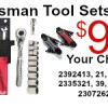 Craftsman Tool Sets (Your Choice)