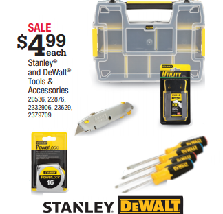 Stanley & DeWalt Tools $4 99 | Yeagers Ace Hardware