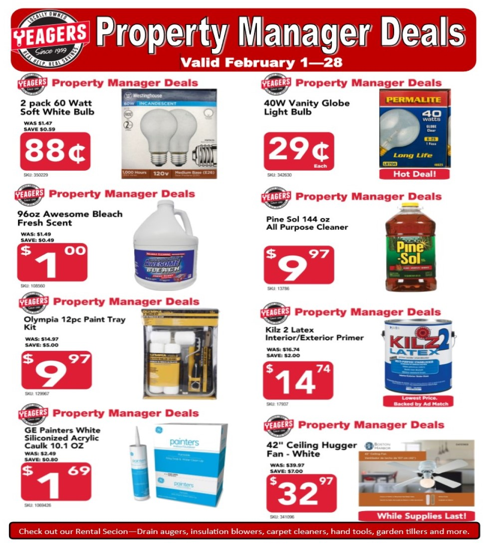 Our deals page