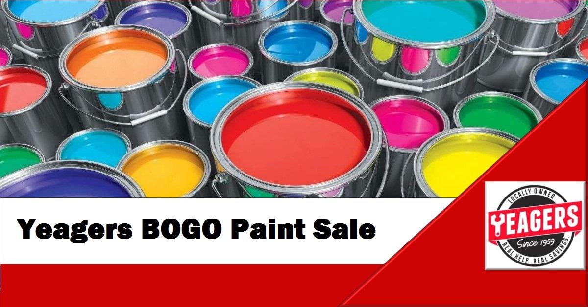 BOGO Paint Sale