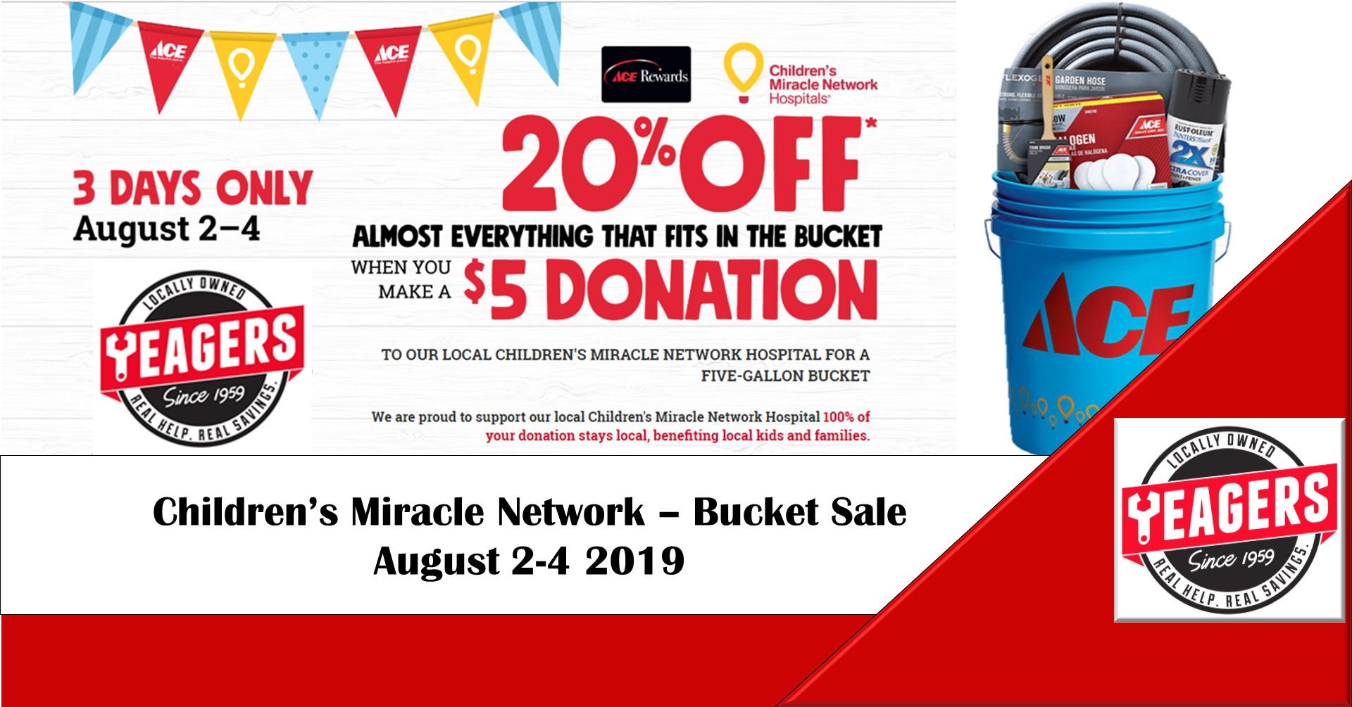 CMN Bucket Sale – August 2-4