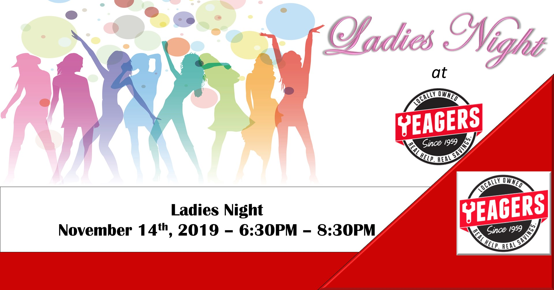 Ladies Night on November 14 from 6:30PM – 8:30PM